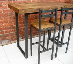kitchen island bar table breakfast bar table bar stools rustic industrial bar table