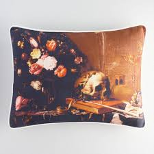 halloween skull still life lumbar pillow world market