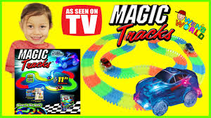 light up car track as seen on tv magic track lighted race car glow in the dark race track police