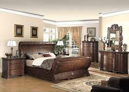 sensational dark cherry intricately carved king sleigh bed bedroom