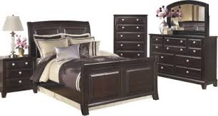 King Sleigh Bed Ridgley 4 King Sleigh Bedroom Set Homemakers Furniture
