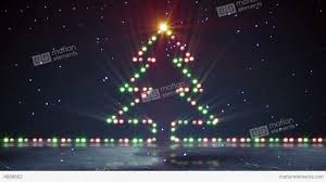 christmas tree shaped lights christmas tree shape lights on ice loopable stock animation 4888662