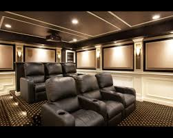 interesting lighting stupendous room with black sofa on motive carpet under lighting