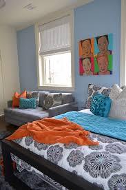Orange Sleeper Sofa Comfortable Sleeper Sofa Home Office Contemporary With Area Rug