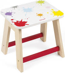 janod splash stool 09614 art and crafts for kids wooden toys