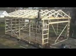 How To Pole Building Construction pole barn building process youtube