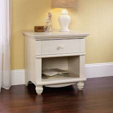 White Bedroom Night Tables Amazon Com Sauder Harbor View Night Stand Antiqued White Finish