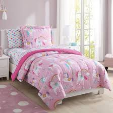 Unicorn Bed Set Mainstays Rainbow Unicorn Bed In A Bag Complete Bedding Set