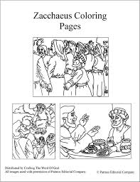 Zacchaeus Coloring Pages Crafting The Word Of God Zacchaeus Coloring Page