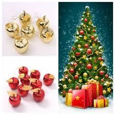 12pcs apple ornaments festival gifts tree