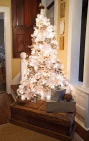 christmas tree with vintage ornaments silver christmas tree