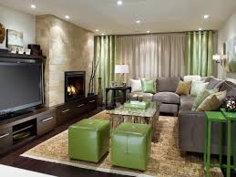 basement decorating ideas with nice sofa lounge and tv set