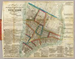 Map Of Old New York by Hooker U0027s New Pocket Plan Of The City Of New York David Rumsey