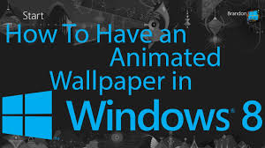 animated halloween desktop wallpaper how to have an animated wallpaper in windows 8 youtube