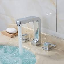 three split square shaped pullout bathroom faucet