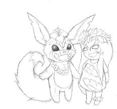 lulu and gnar lilo and stitch skin concept sketch by xkalikaxx on