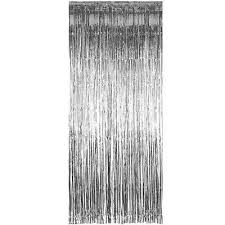 Silver Foil Curtains Silver Shimmer Foil Curtain Balloon Tassel Pretty