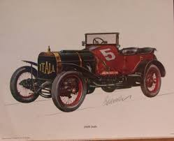 automobile lithographs 3 biederman vintage cars itala 1904