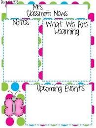 free preschool newsletter templates template design