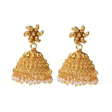 gold jhumka earrings big jhumkas jhumki style earrings gold earrings for kids