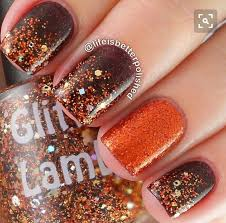 fall orange brown gold nails orange brown orange