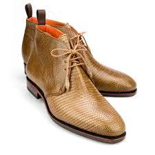 chukka boot in chestnut lizard