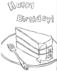 birthday cake coloring pages free printable pictures