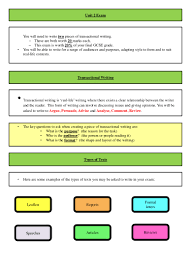 gcse revision planner template revision booklet for gcse english unit 2 exam