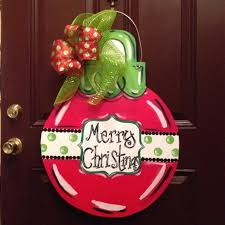 Christmas Ornament Door Hanger