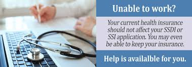 current health insurance and ssdi or ssi