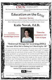 Csun Campus Map Education On The Edge Katie Novak Ed D Tickets Thu Sep 21