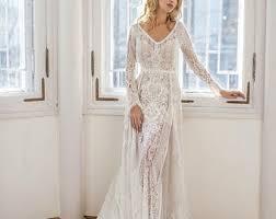 bohemian wedding dress boho wedding dress etsy
