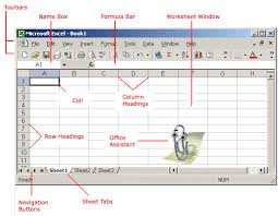 Microsoft Excel Worksheet Excel Xp Identifying Basic Parts Of The Excel Window Page 2