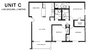 3 bedroom 2 bath house plans homely design 3 bedroom floor plans 6 plan c bedroom two bath