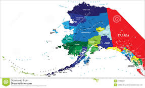 Alaska Canada Map by State Of Alaska Map Royalty Free Stock Photography Image 25594837