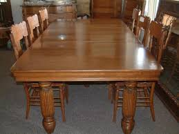 Salado Creek Antiques Massive  Leg Quartersawn Oak Dining Table - Antique oak kitchen table