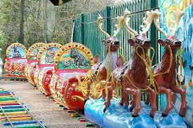 santa s sleigh ride at winter