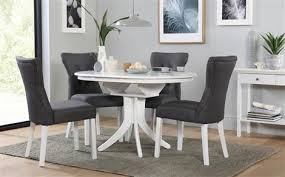 White Round Kitchen Table Set Dining Room The Mandy White Round Kitchen Table And 4 Chairs For