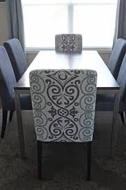 Fabric Chair Covers For Dining Room Chairs Diy Dining Chair Slipcovers From A Tablecloth Middle Dining