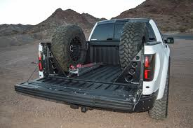 jeep tire carrier rogue racing spare tire carrier and bed support ford raptor