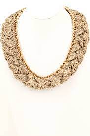 gold braided chain necklace images Mesh chain fabric braid necklace necklaces jpg