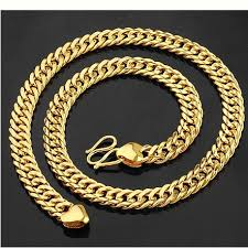 cheap gold necklace images Free shipping wholesale cheap gold jewelry 18k gold jewelry set jpg