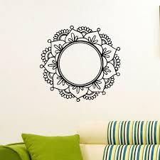 Wall Decals Mandala Ornament Indian by 60 X 60cm Wall Decal Vinyl Sticker Mandala Flower Yoga Indian