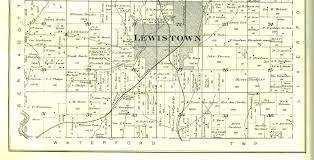 Illinois Township Map by 1895 Atlas Of Fulton County Illinois Lewistown Township