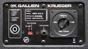 8 ohm bass speaker cabinet gallien krueger neo 212 ii 600w 2x12 8 ohm bass speaker cabinet