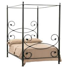 sleek canopy wrought iron bed u2013 tappy co