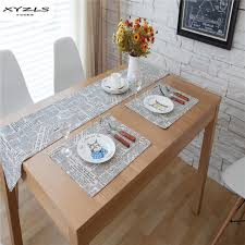 Vintage Table Ls Xyzls Europe Style Cotton Linen News Paper Printed Table Runner
