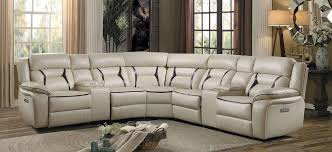 beige leather sectional sofa amite beige power reclining sectional sofa 8229 7pw savvy discount