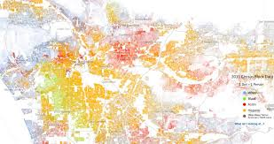 Race Map A Map Of Los Angeles By Race 1233x651 X Post From R Losangeles