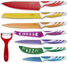 Ceramic Kitchen Knives Set by Amazon Com Chopmate Color Stainless Steel Anti Bacterial Non